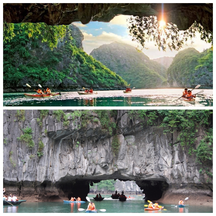 Enjoy-kayaing-on-ha-long-bay-day-tour