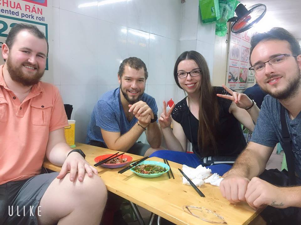 Our-customer-on-Hanoi-Street-Food-Tour